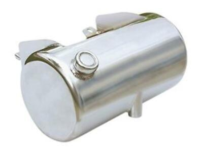Ultima Chrome Round Side Fill Custom 3.5 Qt Oil Tank Battery Tray Harley Softail