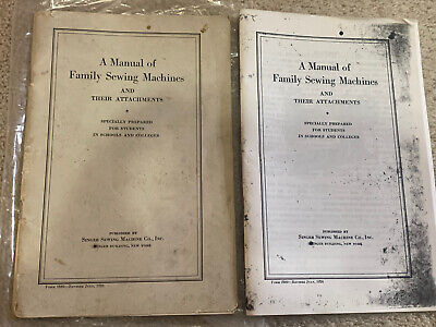 Antique 1926 Manual Family Singer Sewing Machines & Attachments Students Schools