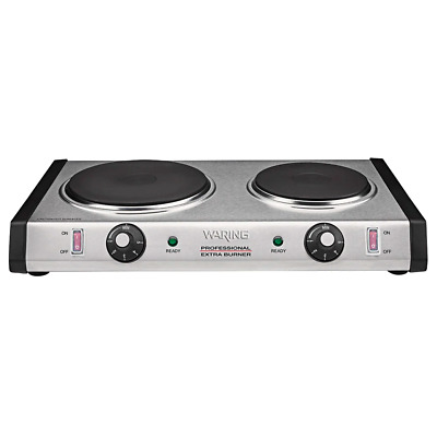 Waring Double Burner Solid Top Electric Countertop Range / Cooker - 120V, 1800W