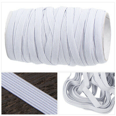 10M 6mm Elastic Stretchy Waist Bands Flat Cord Dressmaking Sewing Elastic Bands