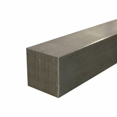 "1018 Cold Finished Steel Square Bar, 1"" x 1"" x 60"""