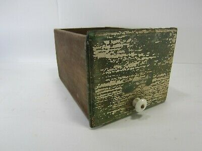 Vintage Wooden Drawer w/Green and White Chippy Paint for Decor Use