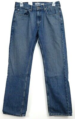 New Signature by Levi Strauss & Co. Mens Relaxed 100% Cotton Denim Jeans 33 x 34