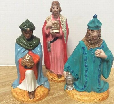 69051 Set//3 Peace Love Joy Christmas Ornament Jesus Mary Joseph Nativity Wisemen
