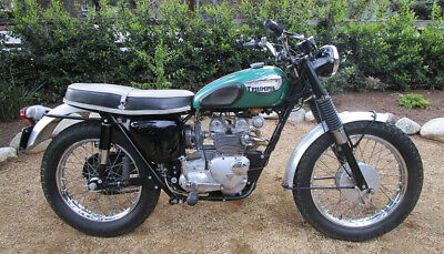 1966 Triumph Tiger  1966 TRIUMPH TIGER T100SC JACK PINE COMPETITION MODEL UNRESTORED MOTORCYCLE 500