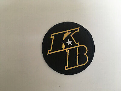 """Los Angeles Lakers Kobe Bryant """"KB"""" Commemorative Patch (Iron On) -- New!"""