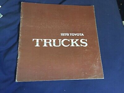 1978 Toyota Pickups USA Market Large Color Brochure Catalog Prospekt