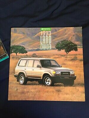 1993 Toyota Land Cruiser Color Brochure Catalog Prospekt