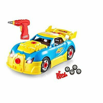 Take Apart Racing Car 2 in 1 Light Sound Build Your Own Car with Toy Power Drill