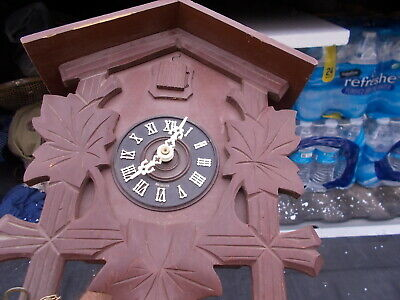 Vintage AS IS Carved German Cuckoo Clock  E. Schmeckenbecher For Repair or Parts