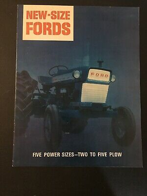 "1965 ""New-Size Ford"" 2000 3000 4000 5000 Commander 6000 Tractor Catalog Brochure"