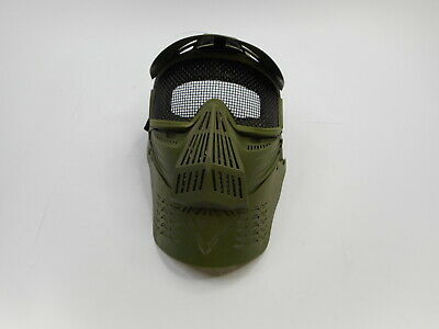 Pforce Paintball/Airsoft Adjustable Full Face Tactical Safety Mask, OD Green