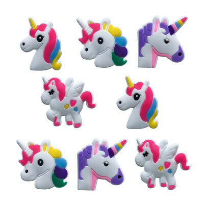 50pcs Unicorn PVC Shoe Charms Accessories Shoe Buckles Fit for Shoes Bands Gifts
