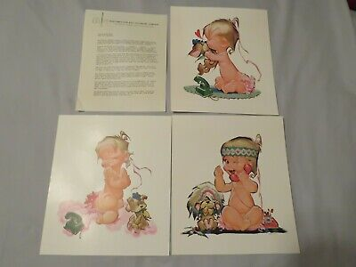 """Bell Telephone System Pete Hawley ~ 3 Betsy Bell Prints ~ 10 1/2"""" X 12"""""""