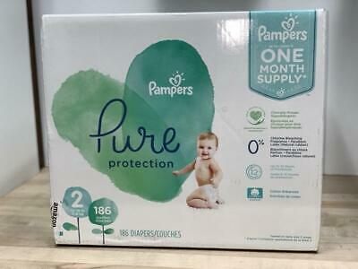 Pampers Pure Pro. Baby Diapers Size 2, Count 186  New