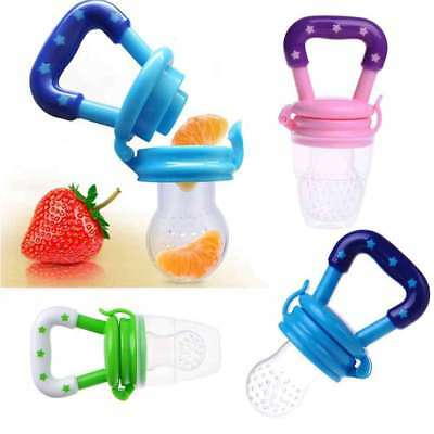 Baby Fresh Food Fruit Safe NON TOXIC Silicone Feeding Pacifier Nipple Fine