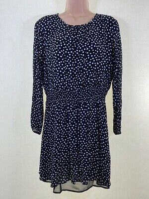 NEXT black white spotty polka dot chiffon mini tea dress size 18 euro 46
