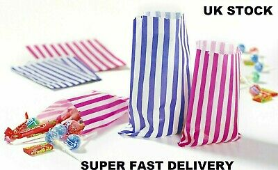 Candy Stripe Paper Bags Gift Shop Party Cake Sweet Treat Super Fast Delivery