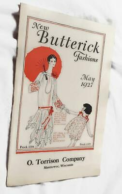 May 1927 New Butterick Fashions Catalog - Flapper Patterns - Illustrations