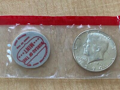 1970 D Kennedy Half from mint set in cello