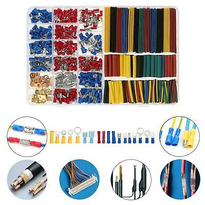678Pcs Car Wire Electrical Set Terminals Connectors Heat Shrink Tube Spade Fork