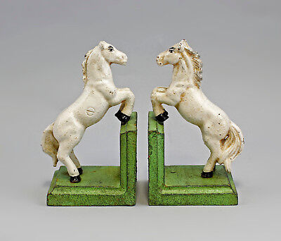 9937619 Cast Iron Figure Book Support Horse Colourful