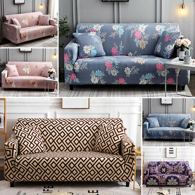 REMOVABLE FLORAL LOUNGE Couch Stretch Sofa Covers Slipcover