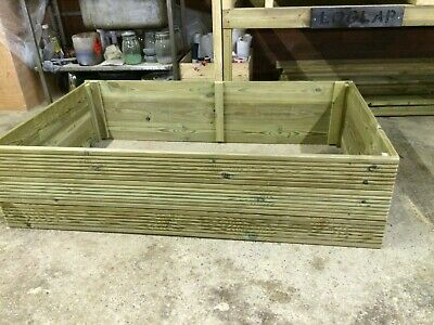 Wooden Raised Bed Vegetable Garden Planter Tanalised Decking 3Ft 4Ft