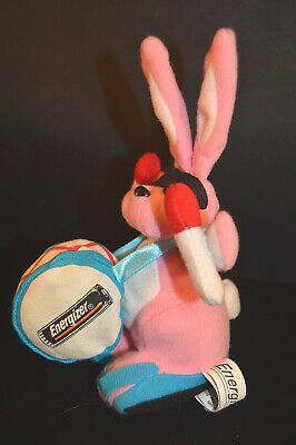 "Vintage ENERGIZER BUNNY 1997  7"" PLUSH  toy doll  Battery  advertising promotion"