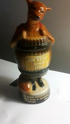 Jim BEAM FOX PAPERWEIGHT 1981 decanter whiskey bottle club convention