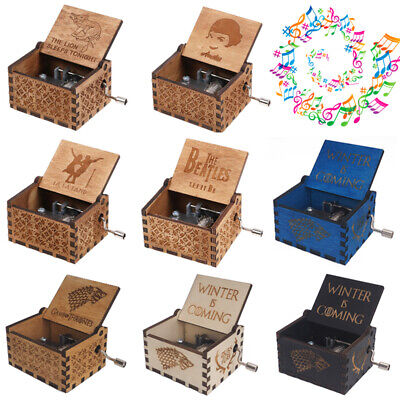 Retro Wooden Music Box Game of Thrones The Beatles Amelie La La Land Toys Gifts