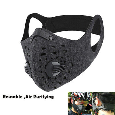 Reusable Outdoor Cycling Running Air Purifying Face Mask Mouth Cover With Filter