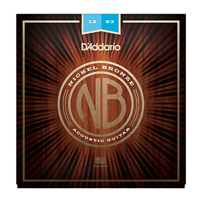 D Addario NB1253 Nickel Bronze Acoustic Guitar Strings, Light, 12-53