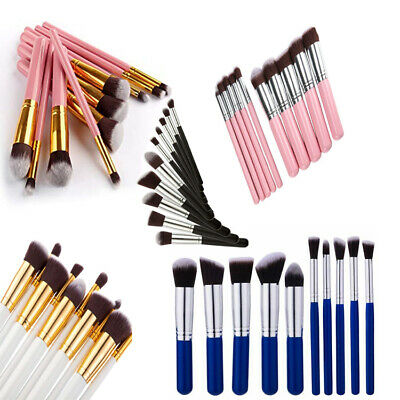 10pcs Make up Brush Set Foundation Eye makeup Brushes Face Blusher