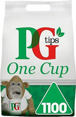 PG Tips One Cup Pyramid Tea Bags (Pack of 1, Total 1100 Tea Bags) 1100 Teabags