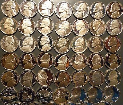 1968-S thru 2020-S Jefferson Nickel Gem Proof 56 Coin Complete Date Set Run