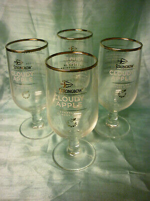 STRONGBOW CLOUDY APPLE CHALICE GLASS IN PRESENTATION BOX