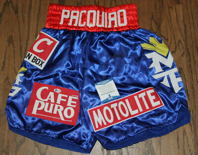 Beckett Authentication Manny Pacman Pacquiao Signed Autographed Auto Boxing Trunks Beckett Bas #s07469