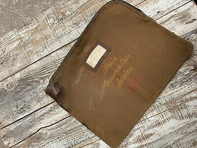Antique Vintage Loomis Bank Carrier Bag