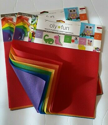 """2 Packs Oly Fun Bright Fabric 12""""x12"""" Craft Mask Sew Breathable Polypropylene"""