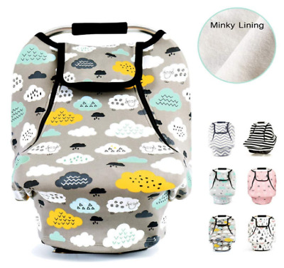 Stretchy Baby Car Seat Covers for Boys Girls, Infant Canopy Spring Autumn Winter