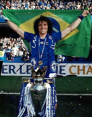 David LUIZ Signed Autograph 10x8 Photo B AFTAL COA Chelsea Premier League