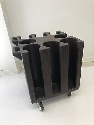 """Cambro NSF Hotel Restaurant Push 6"""" Plate Dish Dolly Cart Caddy poker chip stack"""