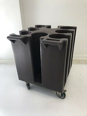 """Cambro NSF Hotel Restaurant Push 6"""" Plate Dish Dolly Cart Caddy rolling stacking"""