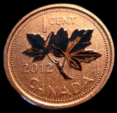 2012 Canada SPECIMEN One Cent Coin - Last Year of the Penny!