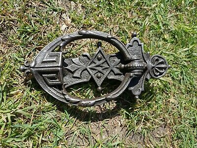 Antique  Vintage Cast Iron  Door Knocker  Made By A. Kenrick And Sons