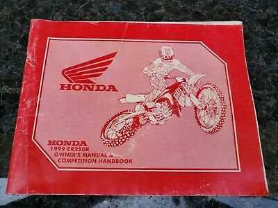 Honda 1999 CR250R Owner's manual  And Competition Handbook