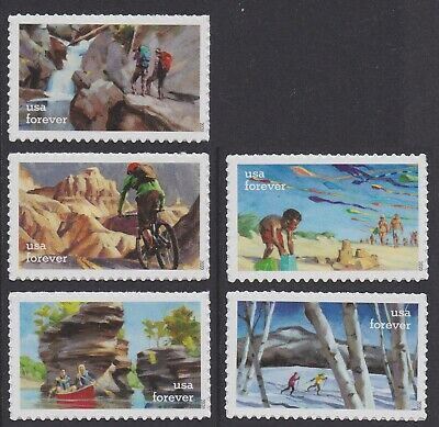 US 5475-5479 Enjoy the Great Outdoors forever set (5 stamps) MNH 2020