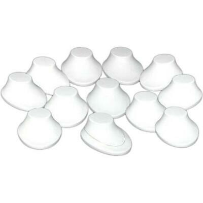 12 White Plastic Necklace Bust Jewelry Display Stand