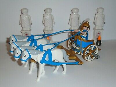 Double Harnessed Chariot and 2 Gladiators Playmobil 5837 History Roman Arena